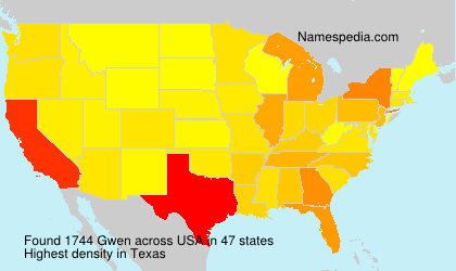 Surname Gwen in USA