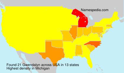 Familiennamen Gwendalyn - USA