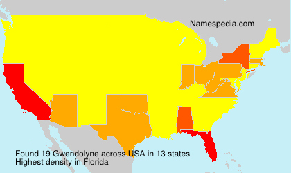 Surname Gwendolyne in USA