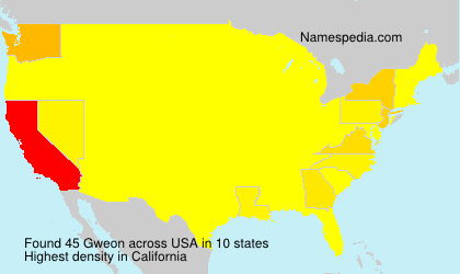 Surname Gweon in USA