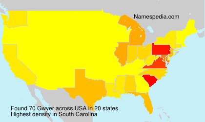 Familiennamen Gwyer - USA