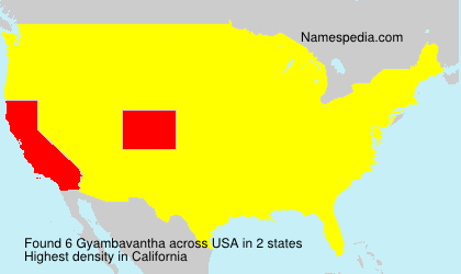 Surname Gyambavantha in USA