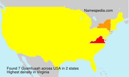 Surname Gyamfuaah in USA