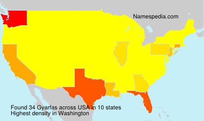 Surname Gyarfas in USA