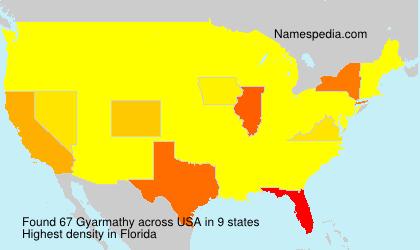 Surname Gyarmathy in USA