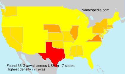 Surname Gyawali in USA