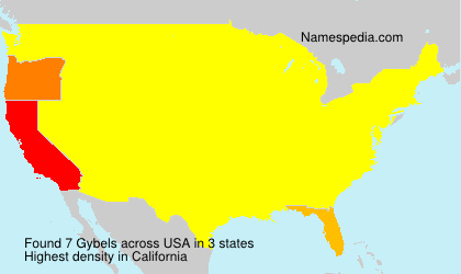 Surname Gybels in USA