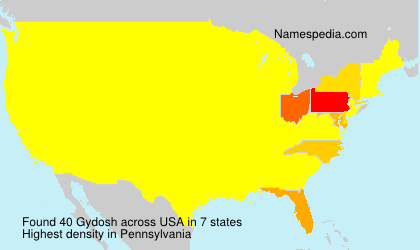 Surname Gydosh in USA