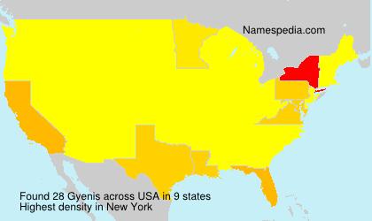 Familiennamen Gyenis - USA