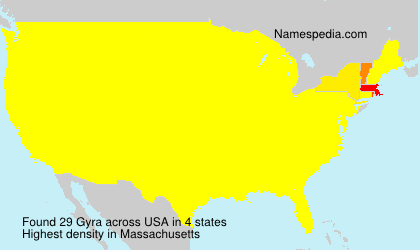 Surname Gyra in USA