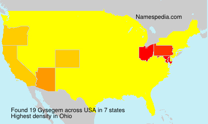 Surname Gysegem in USA