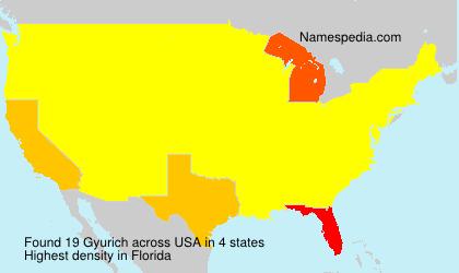 Familiennamen Gyurich - USA