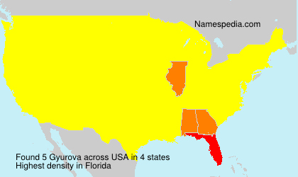 Surname Gyurova in USA