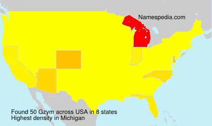 Familiennamen Gzym - USA