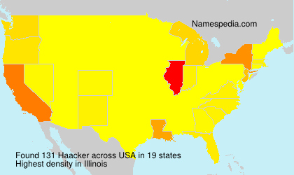 Surname Haacker in USA
