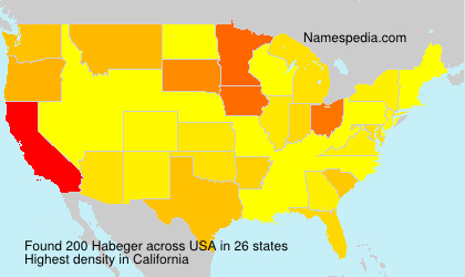 Surname Habeger in USA