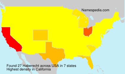 Familiennamen Haberecht - USA