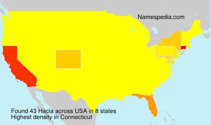 Surname Hacia in USA