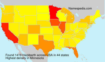 Surname Hackbarth in USA