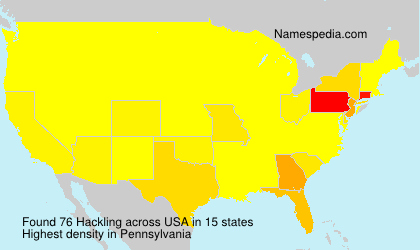 Surname Hackling in USA