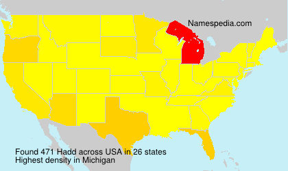 Surname Hadd in USA