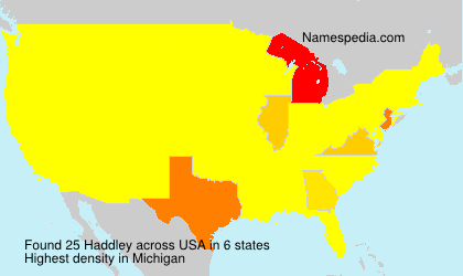 Surname Haddley in USA