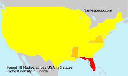 Surname Hadjez in USA