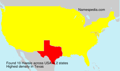 Surname Haesle in USA