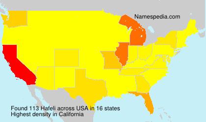 Surname Hafeli in USA