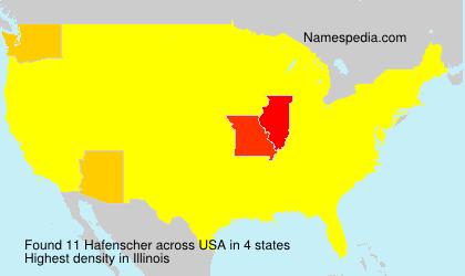 Surname Hafenscher in USA