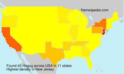 Surname Hagag in USA