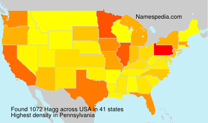 Surname Hagg in USA