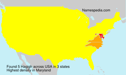 Surname Hagigh in USA