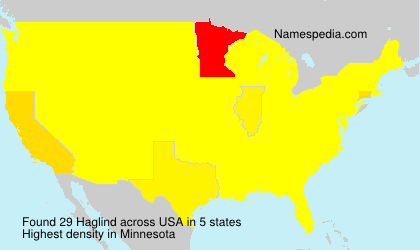 Surname Haglind in USA