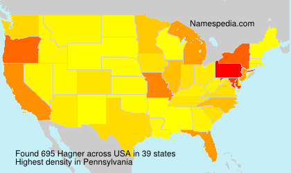 Surname Hagner in USA