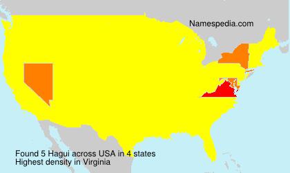 Surname Hagui in USA