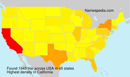 Surname Hai in USA