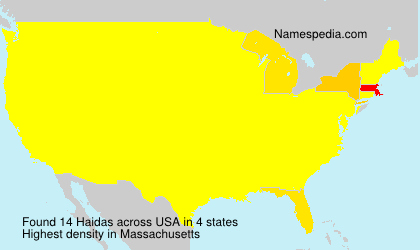 Surname Haidas in USA