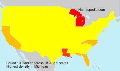 Surname Haidler in USA