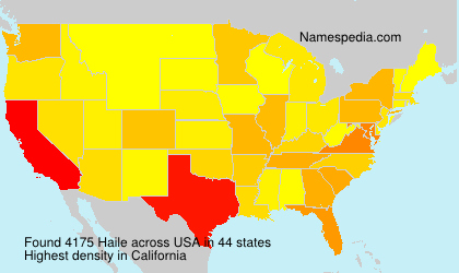 Surname Haile in USA