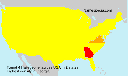 Surname Hailegebriel in USA