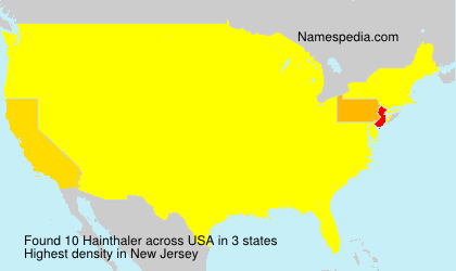 Surname Hainthaler in USA