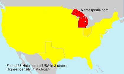 Surname Haio in USA