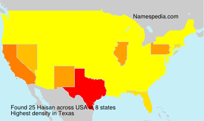 Surname Haisan in USA