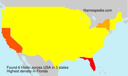 Surname Haitin in USA