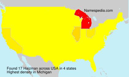 Surname Haizman in USA