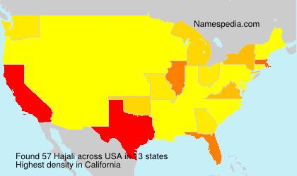 Surname Hajali in USA