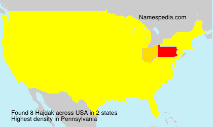 Surname Hajdak in USA