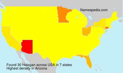 Familiennamen Halagan - USA