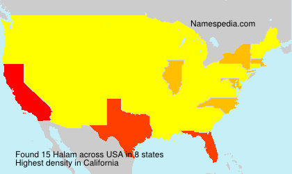 Surname Halam in USA